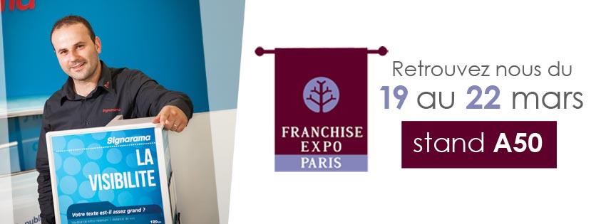 Signarama est au salon franchise expo 2017 à Paris
